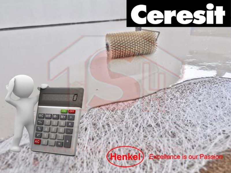 Расчет смеси для наливного пола Ceresit